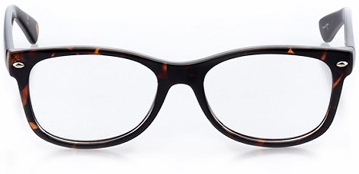 aarhus: square eyeglasses in tortoise - front view