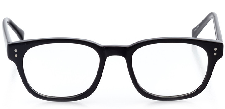 helsinki: round eyeglasses in black - front view