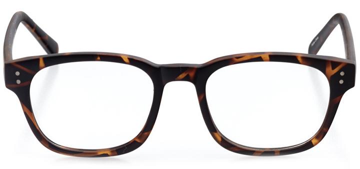 helsinki: round eyeglasses in tortoise - front view