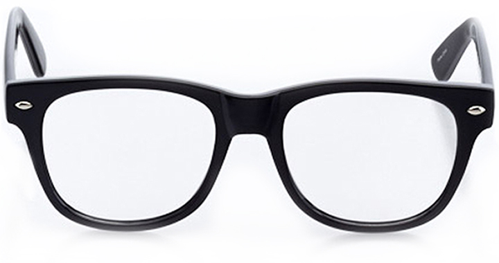 cordoba: square eyeglasses in black - front view
