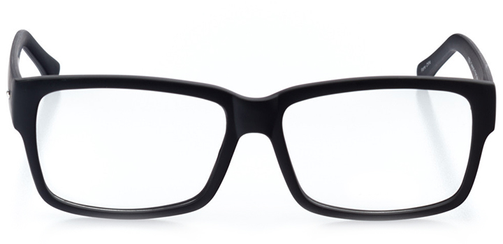chicago: men's square eyeglasses in brown - front view