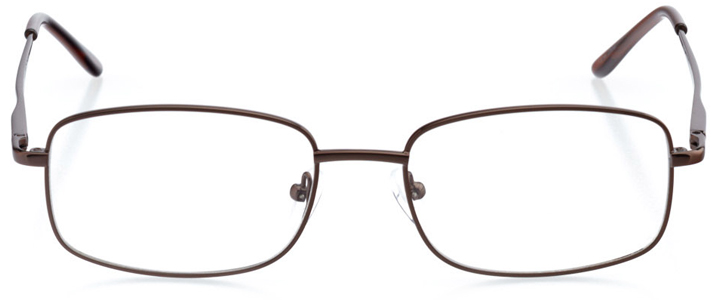 oslo: men's rectangle eyeglasses in brown - front view