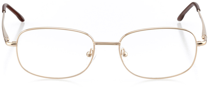 lisbon: men's square eyeglasses in brown - front view
