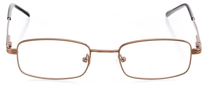 vancouver: men's rectangle eyeglasses in brown - front view