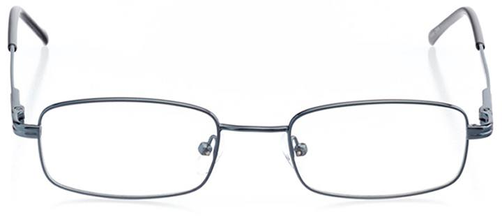 vancouver: men's rectangle eyeglasses in blue - front view