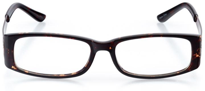 surrey: women's rectangle eyeglasses in tortoise - front view
