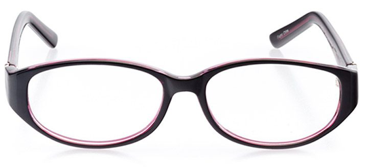 camden: women's oval eyeglasses in black - front view