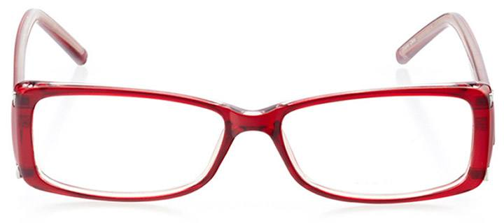 st. austell: women's rectangle eyeglasses in pink - front view