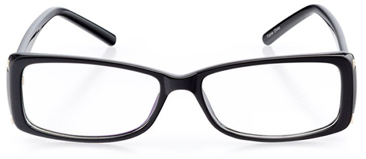 st. austell: women's rectangle eyeglasses in black - front view