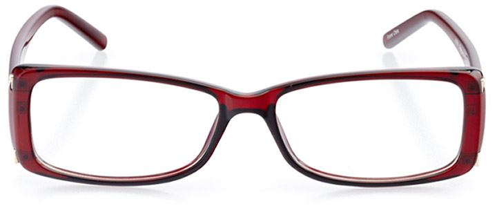 st. austell: women's rectangle eyeglasses in brown - front view
