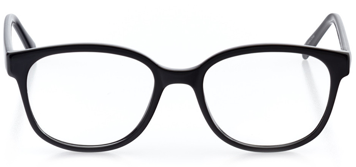 berne: women's square eyeglasses in black - front view