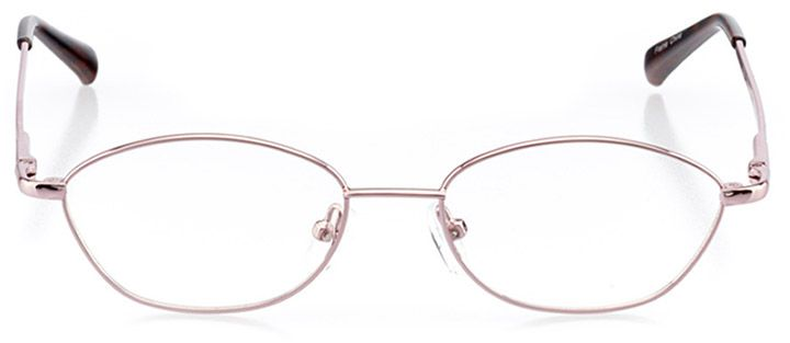 dartmouth: women's oval eyeglasses in pink - front view