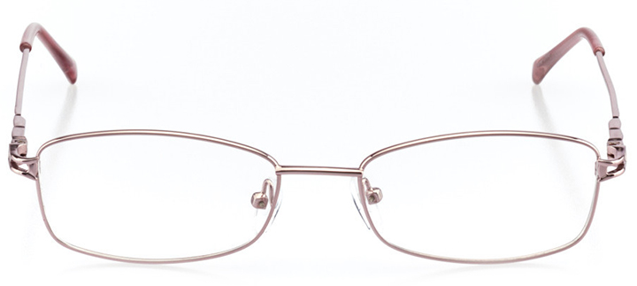 valencia: women's rectangle eyeglasses in pink - front view