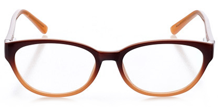 sintra: women's oval eyeglasses in orange - front view