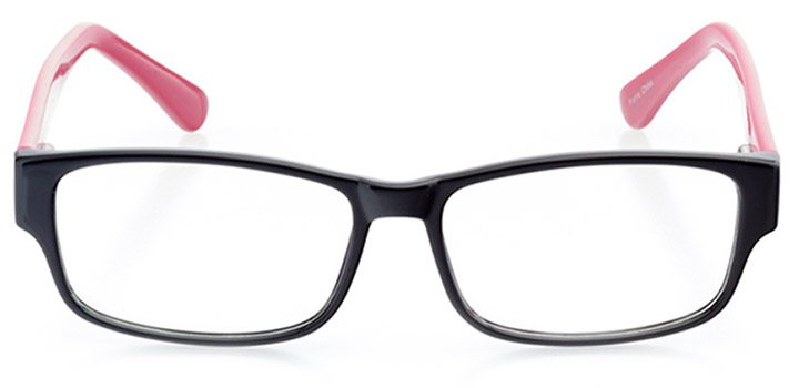 monte carlo: women's rectangle eyeglasses in pink - front view