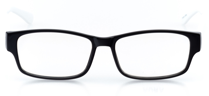 monte carlo: women's rectangle eyeglasses in white - front view