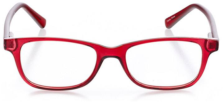 st. ives: women's rectangle eyeglasses in red - front view