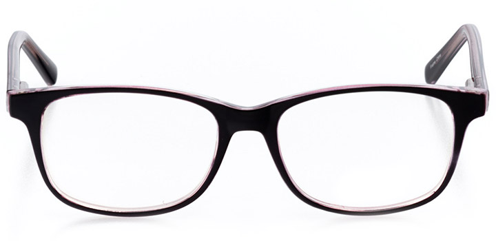moscow: women's square eyeglasses in red - front view