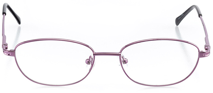 paisley: women's oval eyeglasses in purple - front view