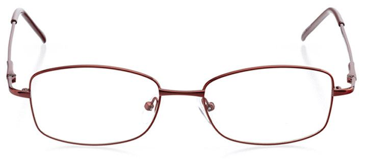 nicosia: women's rectangle eyeglasses in red - front view