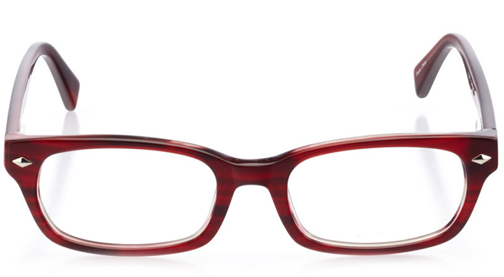 san clemente: women's rectangle eyeglasses in red - front view