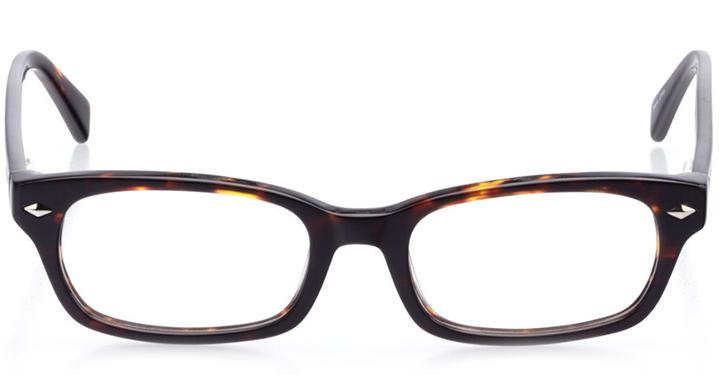 san clemente: women's rectangle eyeglasses in tortoise - front view