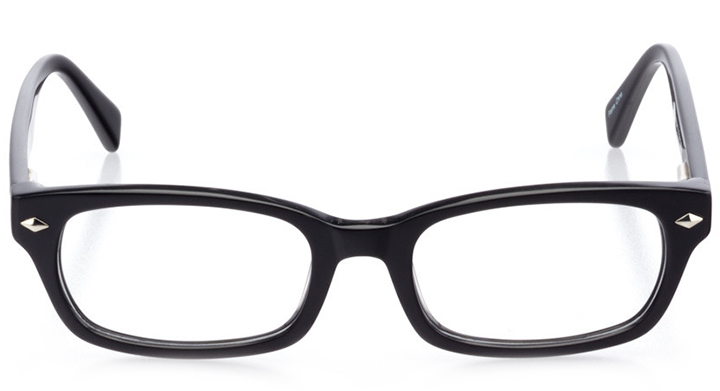 san clemente: women's rectangle eyeglasses in black - front view