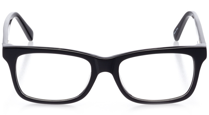 san diego: women's square eyeglasses in black - front view