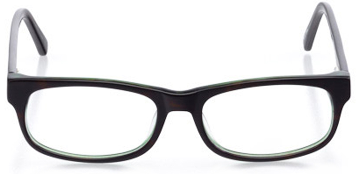 yuma: women's rectangle eyeglasses in tortoise - front view