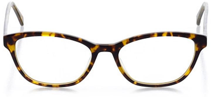 peabody: women's cat eye eyeglasses in tortoise - front view