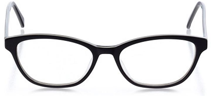 peabody: women's cat eye eyeglasses in black - front view