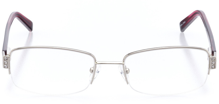new london: women's rectangle eyeglasses in silver - front view