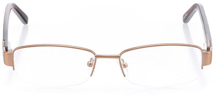 havre de grace: women's rectangle eyeglasses in brown - front view