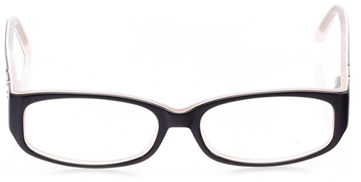 sun city: women's rectangle eyeglasses in black - front view