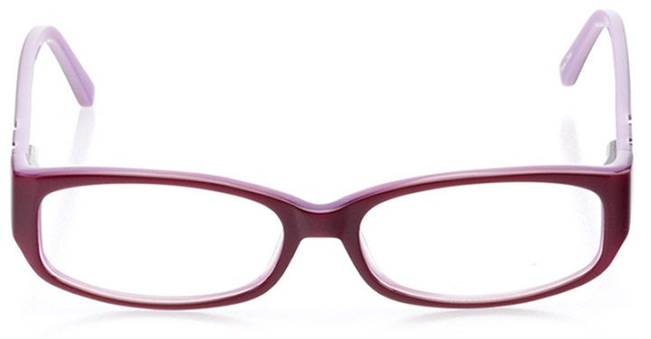 sun city: women's rectangle eyeglasses in red - front view