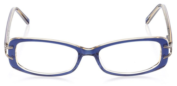 alexandria: women's rectangle eyeglasses in blue - front view