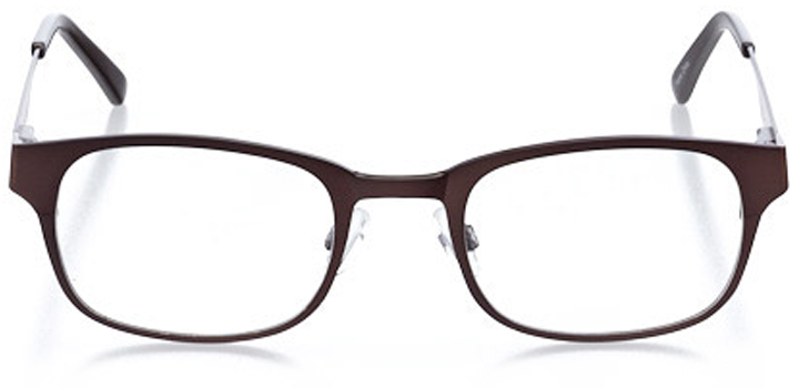 montpelier: men's square eyeglasses in brown - front view
