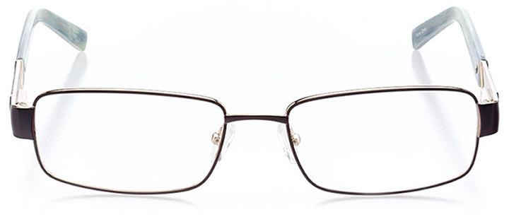 palmetto bay: men's rectangle eyeglasses in black - front view