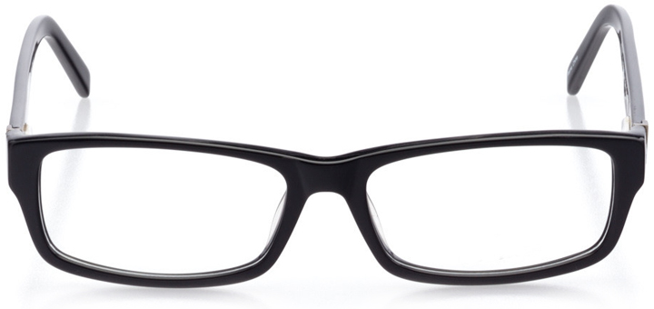 galway: men's rectangle eyeglasses in black - front view