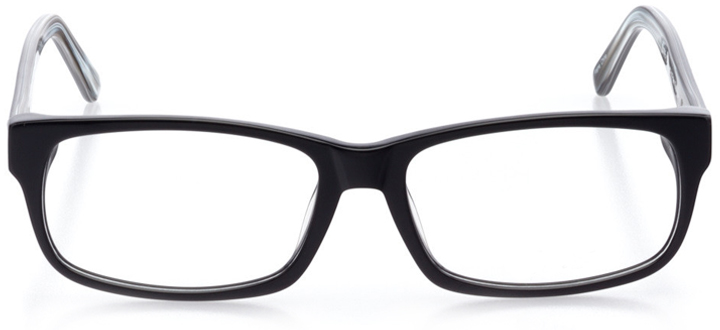 reykjavik: men's rectangle eyeglasses in black - front view