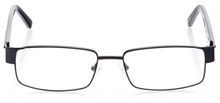 hilton head: men's rectangle eyeglasses in black - front view