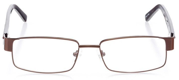 hilton head: men's rectangle eyeglasses in brown - front view