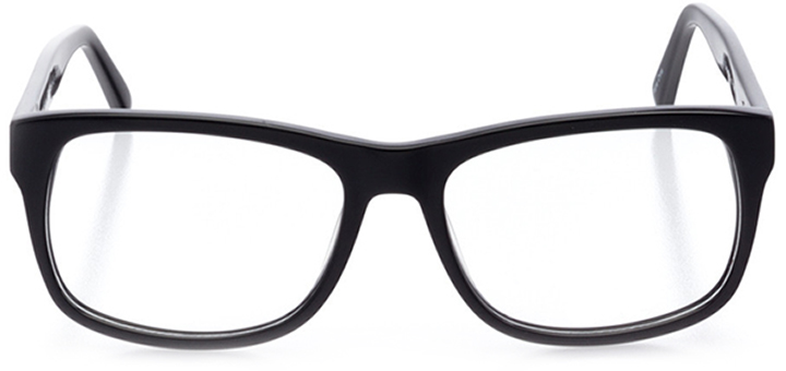 oakdale: men's square eyeglasses in black - front view
