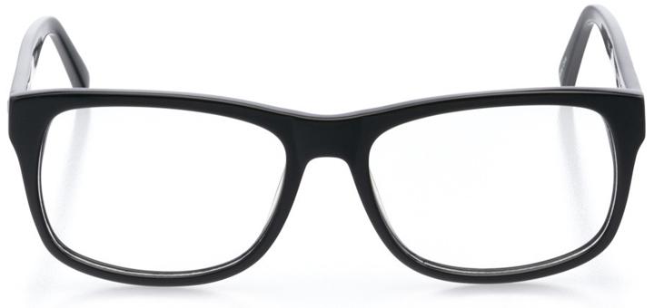 oakdale: men's square eyeglasses in green - front view