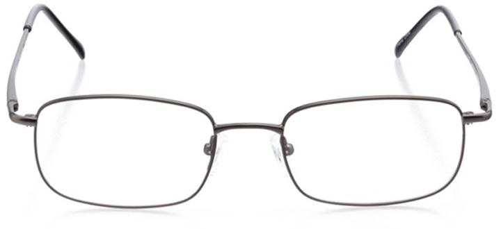 rhodes: men's square eyeglasses in gray - front view