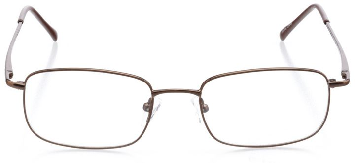 rhodes: men's square eyeglasses in brown - front view