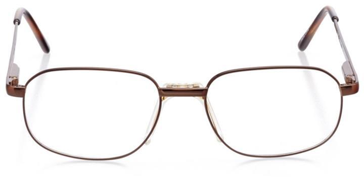 viseu: men's square eyeglasses in brown - front view