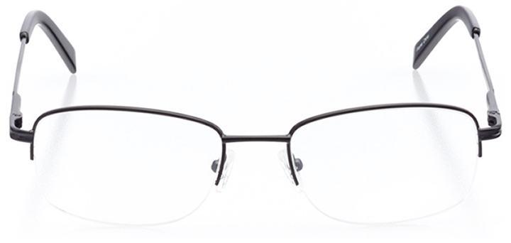 aspen: men's rectangle eyeglasses in black - front view