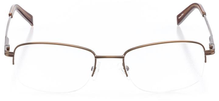 aspen: men's rectangle eyeglasses in brown - front view