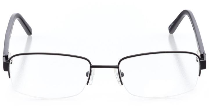 cincinnati: men's rectangle eyeglasses in black - front view